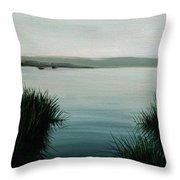 Ocean Grass Throw Pillow