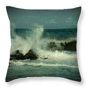 Ocean Impact - Jersey Shore Throw Pillow