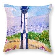 Ocean Lighthouse Throw Pillow