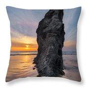 Ocean Meadow Beach Sunset Throw Pillow