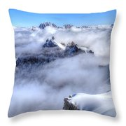 Ocean Of Clouds Throw Pillow
