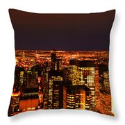 Ocean Of Light New York City Usa Throw Pillow
