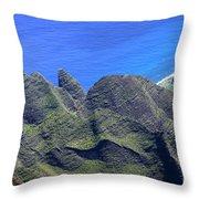 Ocean Peaks Throw Pillow