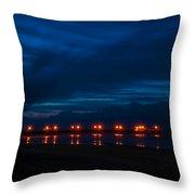 Ocean Pier At Dawn 2 Throw Pillow