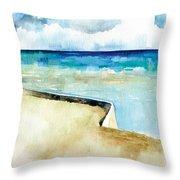 Ocean Pier In Key West Florida Throw Pillow