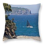 Ocean Racing I Throw Pillow