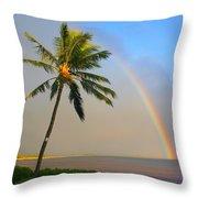 Ocean Rainbow Maui Throw Pillow