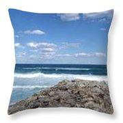 Great Ocean Road Surf, Australia - Panorama Throw Pillow