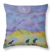 Ocean Seagulls Throw Pillow