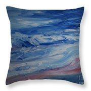 Ocean Shoreline Throw Pillow