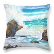 Ocean Storm Sea Squall    Throw Pillow