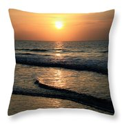 Ocean Sunrise Over Myrtle Beach Throw Pillow