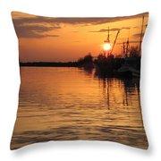 Ocean Sunset 3rd Throw Pillow