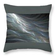 Ocean Swell Fractal Throw Pillow