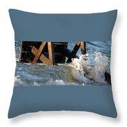 Ocean Table Throw Pillow