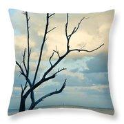 Ocean Tree Throw Pillow
