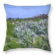 Ocean Vegetation Throw Pillow
