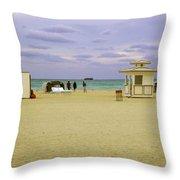 Ocean View 3 - Miami Beach - Florida Throw Pillow