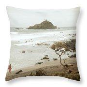 Ocean Walk Throw Pillow