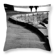 Ocean Walk Throw Pillow