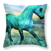 Ocean Wave Throw Pillow by Betsy Knapp