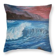 Ocean Wave Throw Pillow
