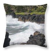 Ocean White Water Throw Pillow