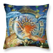 Oceana Triptych Throw Pillow by Ciro Marchetti