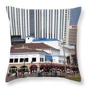 Oceanfront Boardwalk Throw Pillow