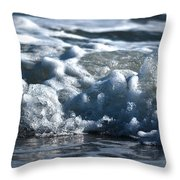 Ocean's Beauty Abstract Throw Pillow