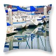 Oceanside Harbor 2 Throw Pillow
