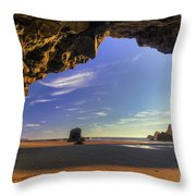 Oceanside Hideout Throw Pillow