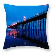 Oceanside Pier Throw Pillow