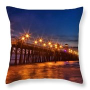 Oceanside Pier Evening Throw Pillow