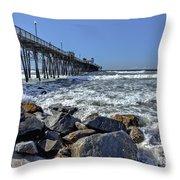 Oceanside Rocks Throw Pillow