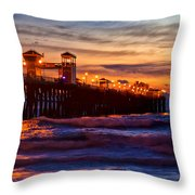 Oceanside Sunset IIi Throw Pillow
