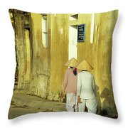 Ochre Wall 02 Throw Pillow