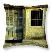 Ochre Wall 03 Throw Pillow
