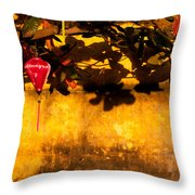 Ochre Wall Silk Lantern 01 Throw Pillow