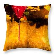 Ochre Wall Silk Lantern 03  Throw Pillow