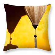 Ochre Wall Silk Lanterns  Throw Pillow