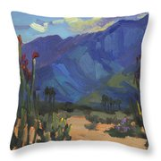 Ocotillos At Smoke Tree Ranch Throw Pillow