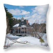 Octagon House Throw Pillow