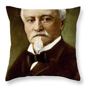 Octave Chanute (1832-1910) Throw Pillow