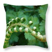 Octo-fern Throw Pillow