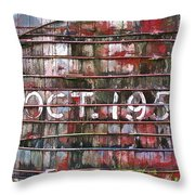 October 1955 Water Ttank Throw Pillow