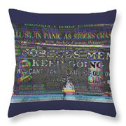 October 29 1929  Black Tuesday And The Great Depression Throw Pillow