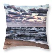 October At The Beach Saugatuck Michigan Throw Pillow