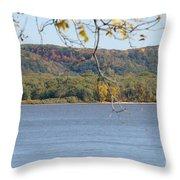 October Bluffs Throw Pillow