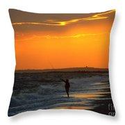 October Fishing Throw Pillow